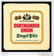 Bierdeckel  Dortmunder Union Siegel-Pils  -  Herzlichen Gruß Aus Dortmund - Sous-bocks