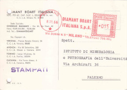 96 Annullo Meccaniuco Rosso. Diamant Boart Italiana S.p.a.   Milano 1966 - Marcophilie - EMA (Empreintes Machines)