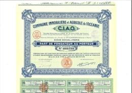 Compagnie Immobilière Et Agricole De L´océanie CIAO 17-12-1929 - Shareholdings