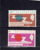 BASUTOLAND 1965 ITU INTERNATIONAL TELCOMMUNICATION YEAR  ANNO INTERNAZIONALE TELECOMUNICAZIONE MNH - Basutoland (1933-1966)