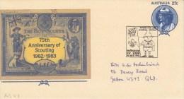 PFADFINDER-SCOUTING-SCOUT S-SCOUTISME-JAMBOREE-GIOV ANE ESPLORATORE, Australia, 1983, Special Postmark !! - Scoutismo