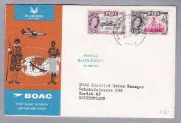 FIJI 1965-11-27  BOAC Erstflug Nandi-London-Zürich - Fidji (1970-...)