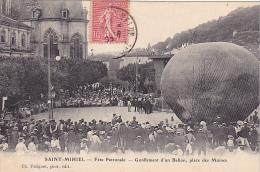 23169 SAINT MIHIEL France - Fete Patronale 1906- Gonflement Ballon - Place Des Moines -Foliguet Photo - Dirigeable