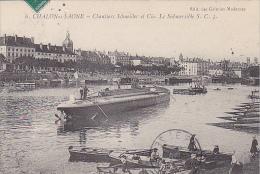 23171 Chalon Sur Saone -France- Chantiers Schneider Et Cie., Submersible S C 3  -6 Ed Galeries Modernes - Sous Marin