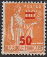 France Type Paix N°  481 ** Surchargé, Le 50c Sur 80c Orange - 1932-39 Paix