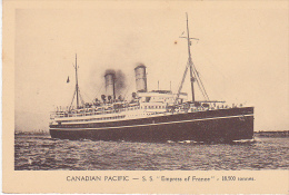 23175 SS Empress Of France  - Canadian Pacific Liner -18500 Tons -ed Danel Lille- Paquebot Canada - Dampfer