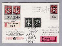 Schweiz Zuschlag 1943-12-03 R-Express-Brief Spendemarke - Svizzera