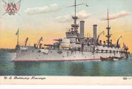 23177- U. S. Battleship Kearsage, Oceanliner, Ed CIPCN ? 72.4 Bateau Guerre Blason