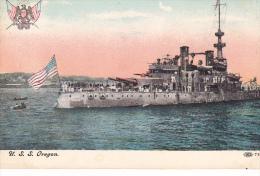 23178- U. S. Oregon, Oceanliner, Ed CIPCN ? 72.1- Bateau Guerre Blason - Guerre
