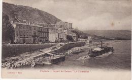 """TOURNON  -  Départ Du Bateau """" Le Gladiateur """" - Tournon"""
