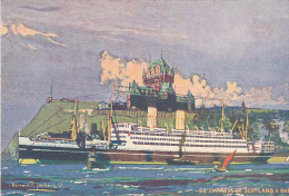 23180 CANADA - SS EMPRESS OF SCOTLAND AND QUEBEC - Desin Bernard Jachevre Peintre Marine -canadian Pacific Paris - Quebec