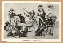 1933 Illustration  : LA CHUTE DE MAC-MAHON - CARICATURE ITALIENNE - Vieux Papiers