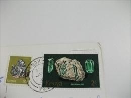 Storia Postale Francobollo Commemorativo Minerali Kenya Tropical Sunset - Kenia