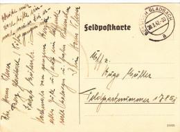 Feldpost WW2:  To Kertsch, Crimea: Stab Aufklärungs-Abteilung 132 Der 132. Infanterie-Division FP 17851 Dtd Bergisch Gla - Militaria