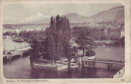 SUISSE - GENEVE - Ile Rousseau Et Le Mont Blanc - Nr 1011 Naine Robert & Cie à Genève - D9 648 - GE Genève