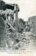ROGNES   Rue église Apres Tremblement Terre De 1909 - Sonstige Gemeinden