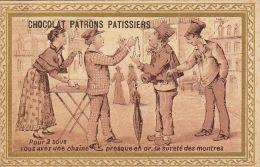 Chromo Chocolat Patrons Patissiers Bruxelles Marché Camelot Or Montre - Unclassified