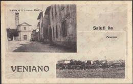 SALUTI DA VENIANO - VEDUTINE - FORMATO 13,8 X 8,8 - NUOVA - Como