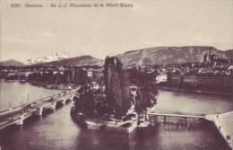 SUISSE - GENEVE - Ile JJ Rousseau Et Le Mont Blanc - Nr 4001 Jaeger à Genève - D9 488 - GE Genève