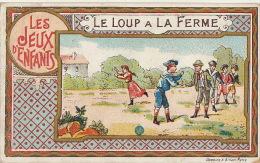 Chromo Les Jeux D´enfants Le Loup à La Ferme Jeu Chocolat Revault - Unclassified