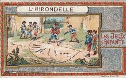Chromo Les Jeux D´enfants L'hirondelle Jeu Chocolat Revault - Unclassified