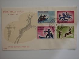 San Marino 1961 FDC Cover Hunting - San Marino