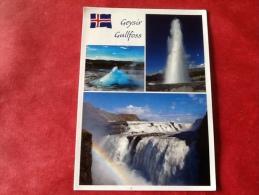 Iceland The Geyser Strokkur And Gullfoss  -> Belgium - Iceland