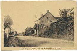 St Agnan Entrée Du Bourg Coté Digoin Pub Byrrh Chocolat Menier - Autres Communes