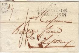 Isere - 37 Le Pont De Beauvoisin- Lettre à Lyon - PD42x16-TM4 N - 1822 - Marcophilie (Lettres)