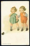 Fialkowska, W. - Do Not Do Me Any Harm - Boy, Girl, Frog ----- Postcard Not Traveled - Fialkowska, Wally