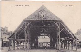 23204 -2cpa- MILLY Interieur Halles Coll Allorge Serie Em111Porquet  /// La Halle Mme Hamelin - Tampon Regiment Zouave - Milly La Foret