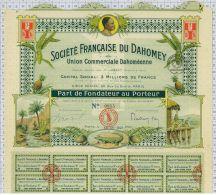 Sté Française Du Dahomey, Union Commerciale Dahoméenne, Super Déco! - Afrique