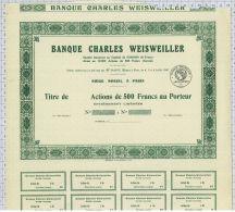 Banque Charles Weisweiller à Paris (blanquette) - Banque & Assurance