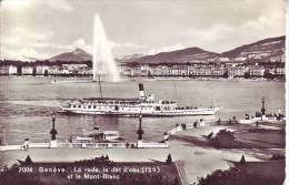 SUISSE - GENEVE - La Rade, Le Jet D´eau Et Le Mont Blanc - Nr 7004 Jaeger à Genève - D9 706 - GE Genève