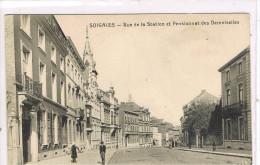(6278    )  Soignies   --  Rue De La Station Et Pensionnat Des Demoiselles - Soignies