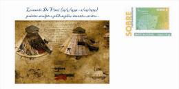 Spain 2014 - Leonardo Da Vinci (1452-1519) Collection - Special Prepaid Cover - Arte