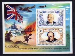 Grenada - 1974 - Winston Churchill Birth Centenary Miniature Sheet - MNH - Grenade (...-1974)