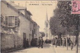 23214 LES MUREAUX - Rue De L'eglise -ed Hautefeuille -vue Prise Par Le Pharmacien Principal - Carte Toilée
