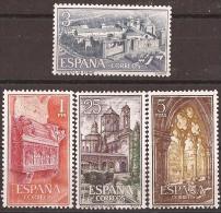 ES1494STV-LFTB116TARSC.Espagne. Spain.MONASTERIO DE STA MARIA DE POBLET.1963.(Ed 1494/7**) Sin Charnela.MAGNIFICO. - Arquitectura