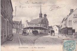 23219 Maintenon - La Place Saint-Pierre   -150ed ? -hotel Du Commerce Attelage Halles