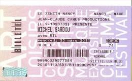 Michel SARDOU Au Zénith Nancy 25/03/2011 - Tickets - Entradas