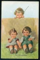 Fialkowska, W. - Der Nebenbuhler - Two Boys, One Girl ----- Postcard Not Traveled - Fialkowska, Wally