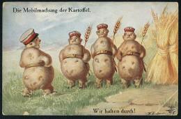 Fialkowska, W. - Die Mobilmachung Der Kartoffel. Wir Halten Durch! - 'OILETTE' No. 1030 ----- Postcard Not Traveled - Fialkowska, Wally