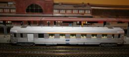 HO, JOUEF, Voiture INOX 1ère Classe SNCF, Pas Courant - Voitures Voyageurs