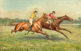 Hippisme.Belle Carte Gauffrée.Non-Voyagée. - Horse Show