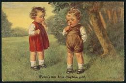 Fialkowska, W. - Wenn's Nur Kein Ungluck Gibt - Boy, Girl ----- Postcard Not Traveled - Fialkowska, Wally