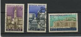 FRANCE - VILLES RECONSTRUITES - N° Yvert 1153+1154+1155 Obl. - France