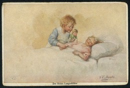 Fialkowska, W. - Der Kleine Langschlafer ----- Postcard Not Traveled - Fialkowska, Wally