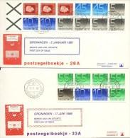 PzB 26a, 33a, 34a, 42a, 43a En 44a Op Philato FDC´s - Blanco / Open Klep (CW = € 27,30) - FDC