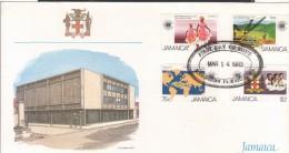 Jamaica Beautiful Fdc.Date 14 March 1983. Tractor - Jamaica (1962-...)